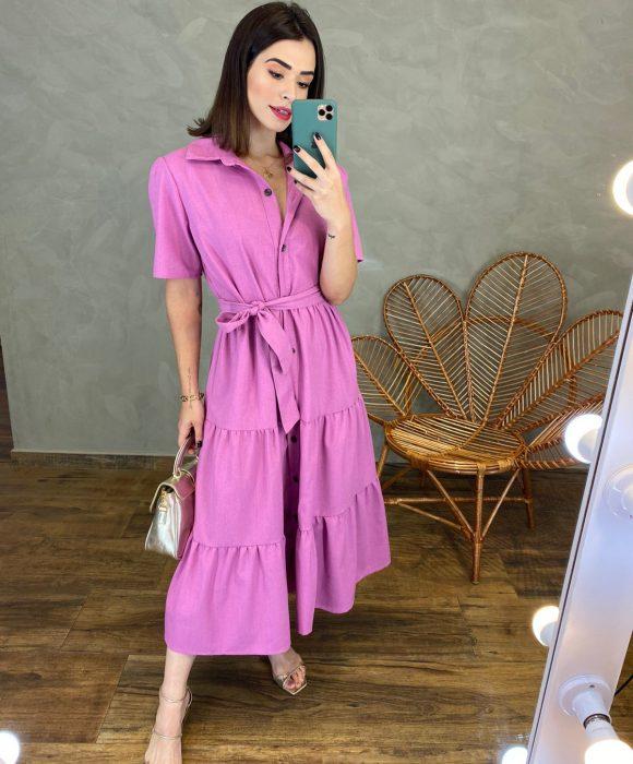 fernandaramosstore com br vestido midi sem bojo com amarracao lilas